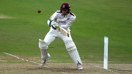 Somerset's Eddie Byrom in action during the Bob Willis Trophy Final at Lord's