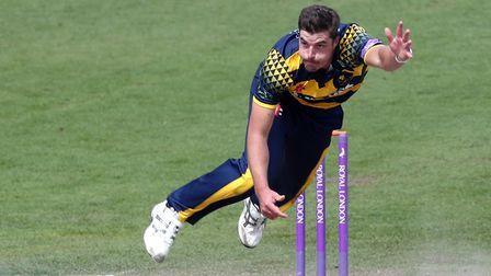 Somerset's new overseas signing Marchant de Lange in action for Glamorgan in 2017