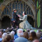 Shakespeare Festival at Norwich Cathedral. 'A Midsummer Night's Dream' presented by The Lord Chamber