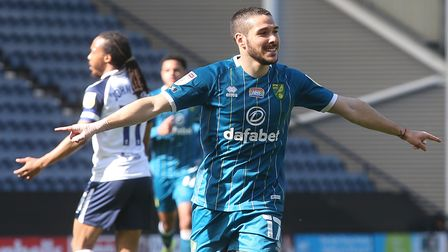 Emi Buendia scored his 11th goal of the season for Norwich City at Preston but later departed with an ankle injury