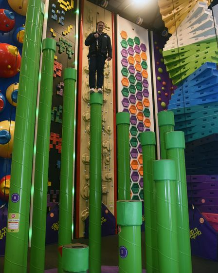 Clip and Climb Ipswich have put in place Covid measures ahead of opening in APril Pictur: CHARLOTTE