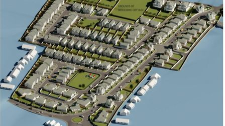 Artist impression of the development of 138 homes, on land between Tadworthy Road & Golf Links Road, Westward Ho