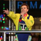 Stevenage panto star Aidan O'Neill at the Stevenage Christmas Light switch on.
