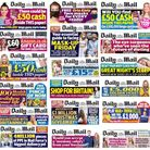 A selection of front page blurbs from the Daily Mail featuring exclusively white people