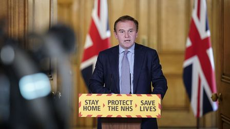Environment Secretary George Eustice during a media briefing in Downing Street on coronavirus (COVID