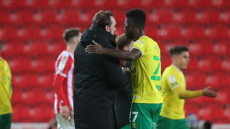 Norwich City head coach Daniel Farke wants to sit down properly with Alex Tettey to thrash out his next step