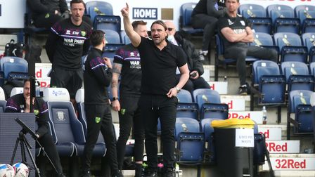 Norwich Head Coach Daniel Farke at Preston