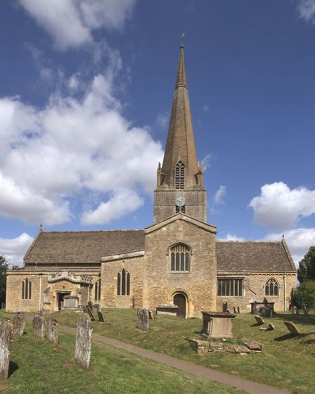 The parish church of St Mary the Virgin, Bampton, where poet John Phillips was born the son of the reverend