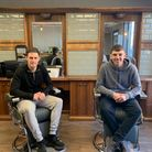 Conor Marks (left) and (right) Luke Watson co director of Mr Barbers.