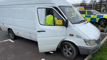 Special constables took part in an operation in Comet Way, Hatfield to tackle vehicle crime