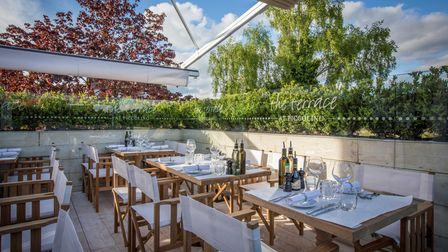 The terrace at Piccolino in Knutsford