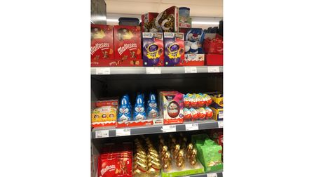 Easter eggs were spotted on supermarket shelves just days after Christmas.