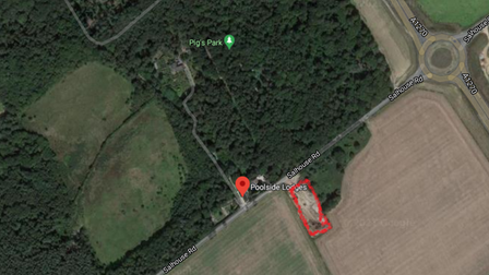 The proposed location for the car washing facility just off Salhouse Road in Rackheath