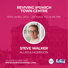 Steve Walker from Allies & Morrison is one of the speakers at theReviving Ipswich Town Centre conference