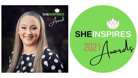 """Amber Seabrook was crowned the Face of SheInspires 2021 for her """"Expression not Aggression"""" dementia campaign"""