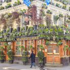 BLOOMING CLOSE: The Churchill Arms, in Kensington, west London, will be able to reopen shortly.