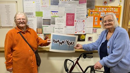 Hetty and Lois from Knebworth Care Home thanked pupils for submitting their poems