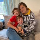Hertfordshire foster carer Sarah Smith with her nephews Max and Lucas