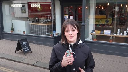 Olivia Herries wants more recycling ofcoffee cups in St Albans city centre.