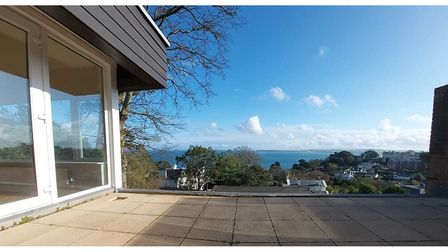 The property offers fabulous views across Torbay with Berry Head in the distance.