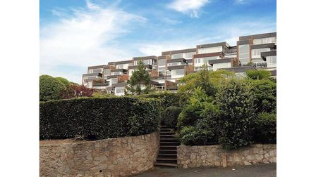 The two-bedroom apartment is in the Lincombes area of Torquay.
