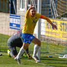 Goal celebrations for Danny Wright of Torquay United