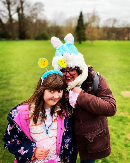 An Easter sponsored walk took place for children with special needs on Good Friday in Norwich