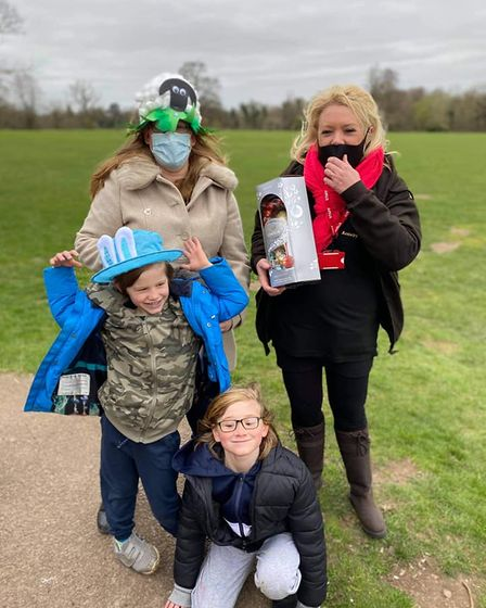 Families enjoyed getting out and about on Good Friday for the Twinkle's Easter sponsored walk