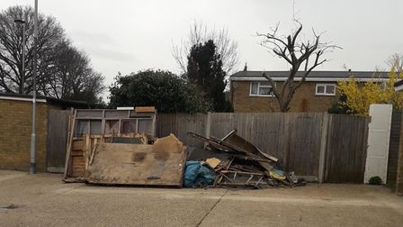 A newly refurbished garage site in Stevenage's Valley Way has been subjected to damage and fly-tipping