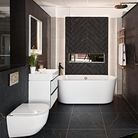Black and white bathroom design at Ripples Bathrooms in Chelmsford