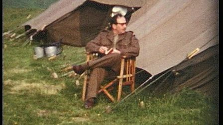 Frank Streek in an army camp in the late sixties