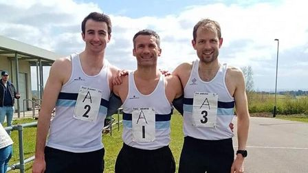 Alex Richards, Paul Grange, and Tom Gardener at The Chingford League race