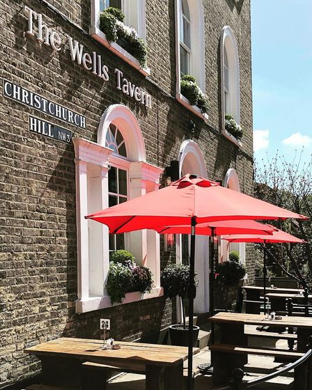 Not much beats being sat outside of the Wells Tavern in Well Walk