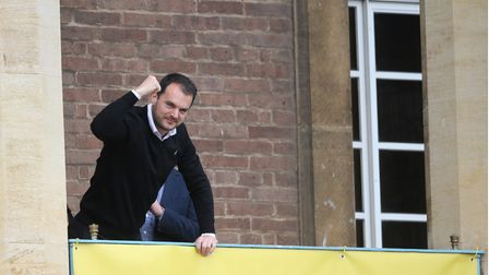 Norwich CityÕs sporting director Stuart Webber during the Norwich City Victory Parade at Norwich Cit