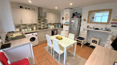 Brixham Cottage kitchen area with charm