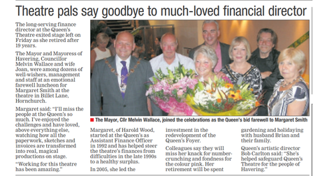 Romford Recorder Margaret Smith