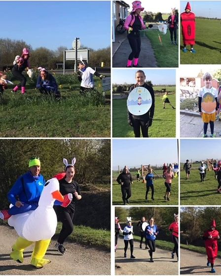March runners in Easter run