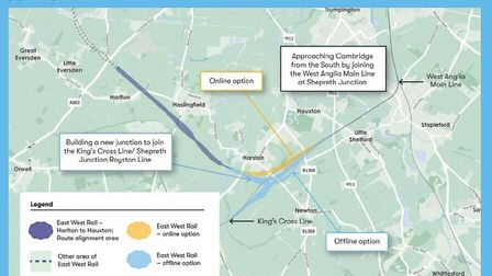 East West Rail Company has opened a consultation on the line which includes options for Bedford to Cambridge