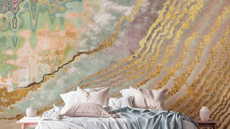 Geode Wave Wallpaper, Classic Paste The Wall Mural, Wallsauce.