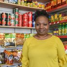 Tola Durowoju, co-owner of Duro Food, at the new African grocery and snack stall on Norwich Market.