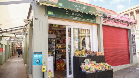Duro Food, a new African grocery and snack stall on Norwich Market. Picture: Danielle Booden