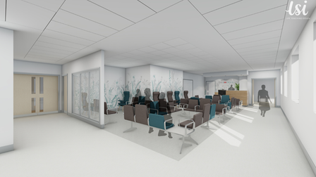 New waiting and reception areas at the N&N new breast cancer unit
