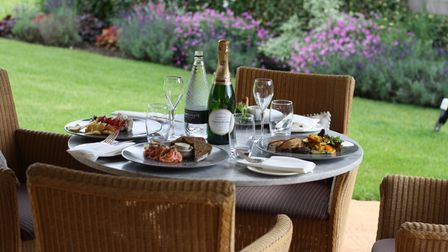 Laurent-Perrier Champagne and Seafood Terrace, Devonshire Arms, Bolton Abbey