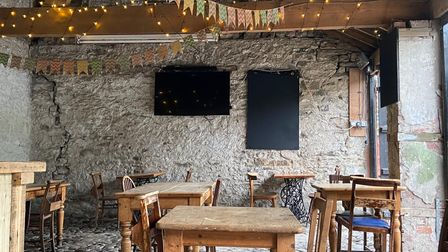 Dine in the stable and outdoor bar at The Black Bull Sedbergh