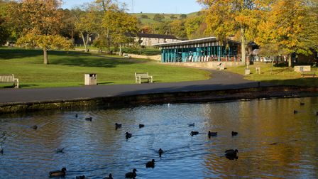 Coffee Culture Cafe, overlooking the lake at Shibden Park, Halifax