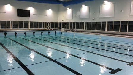 The new 25m pool