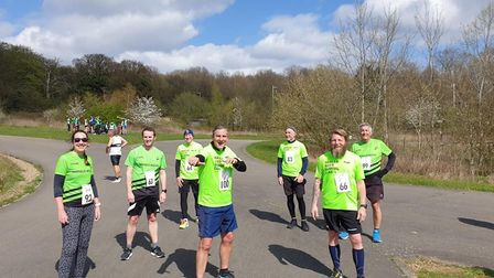 Harold Wood Running Club members out at Chingford League race