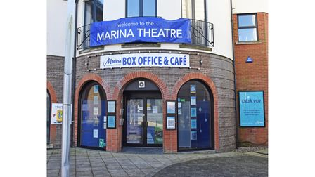The Marina Theatre box office, which will reopen next week.