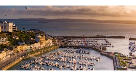 Aerial view of Torquay harbour