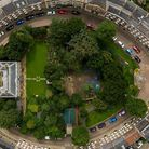 Wisbech Castle from above